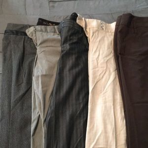 Bundle of 5 work slacks, boot cut . Express , WHBM